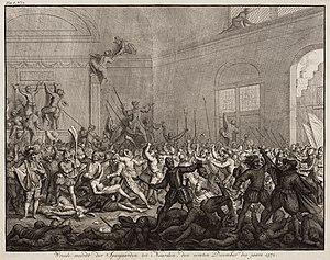 Spanish Fury - Image: Wreede moordt der Spanjaarden tot Naarden, den eersten december des jaars 1572 The cruel massacre of Naarden by the Spanish in 1572 (Jan Luyken)