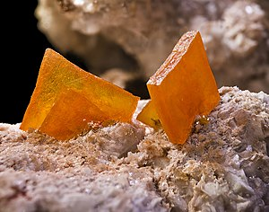 Wulfenite - Image: Wulfenite mexique