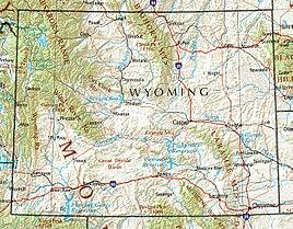 Geographische Karte Wyomings