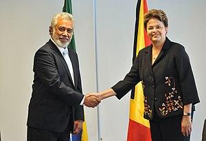 Xanana Gusmão - Gusmão with Brazilian President Dilma Rousseff