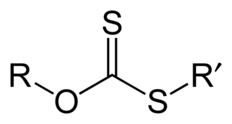Xanthate - Structure of a xanthate ester