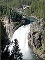 Yellowstone N.P., Crittenden Bridge and Upper Falls, Grand Canyon of Yellowstone 9-2011 (6911244017).jpg