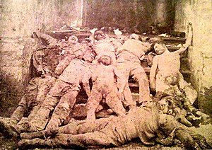 February Uprising - Yerevan prison after Bolshevik slaughter. At the night of 17 February 1921, 50 people were brutally slaughtered at Yerevan prison.