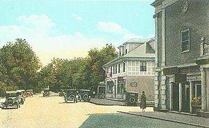 York Harbor, Maine - York Street and the Lancaster Building, c. 1922