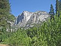 Yosemite Falls and Yosemite Point. Taken from Housekeeping Campground, facing northwest next to the Merced River. - panoramio.jpg