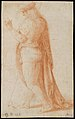 Young Man Standing in Profile Facing Left (recto); Sketch of Two Capitals (verso) MET DT4504.jpg