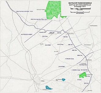 Battle of Poelcappelle - Image: Ypres 1917 Poelcappelle Setup+Objectives