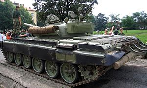 Yugoslav People's Army - Yugoslav-built M-84 tank