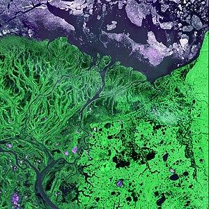 Yukon–Kuskokwim Delta - Image: Yukon Delta ASTER 2002may 26