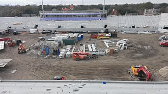 Yulman Stadium - Image: Yulman Stadium construction February 2014 1