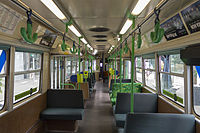 Z1-class Melbourne tram interior, 2013.JPG