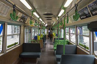 Z-class Melbourne tram - Interior of a Z1-class in December 2013