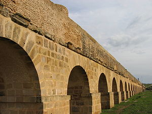 Roman aqueduct near Tunis. Zaghouan