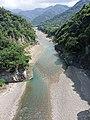 Zengwen River crystal clear water flows, view from Dapu Bridge, as taken on 1st October 2020.jpg