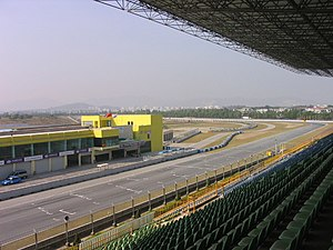 Zhuhai International Circuit - The final corner and the pit lane entrance.