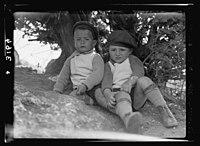 Zionist colonies on Sharon. Ben Shemen, two young pioneers. Two healthy kiddies LOC matpc.15198.jpg