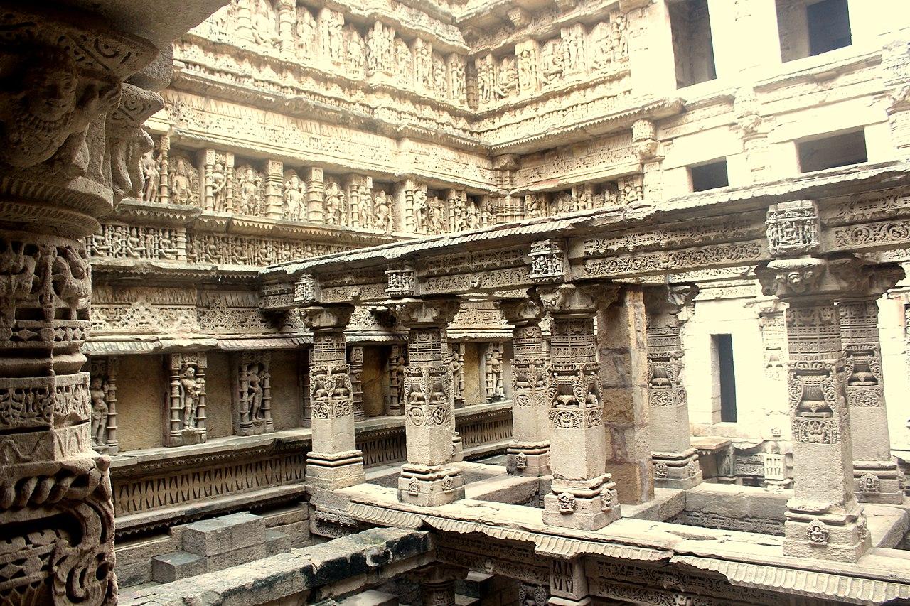 Inside view of Rani Ka Vav in Patan