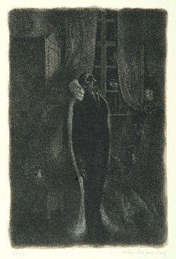"""Fear"", page 17 from the book ""Der Golem"", illustrated by Hugo Steiner-Prag"