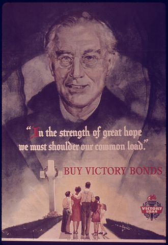 C. C. Beall - Roosevelt drawing by Beall for poster to promote U.S. Victory Bonds