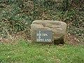 """Millennium"" stone, Dowland - geograph.org.uk - 71378.jpg"