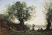 'Orpheus Lamenting Eurydice', oil on canvas painting by Jean-Baptiste-Camille Corot.jpg