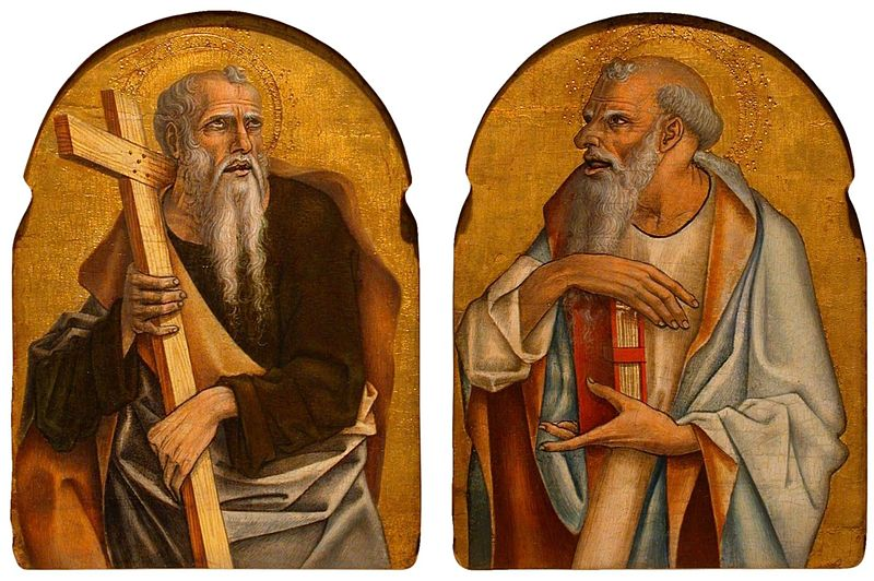 File:'Two Apostles', tempera and gold on panel by Carlo Crivelli, 1470-5, Honolulu Academy of Arts.jpg