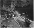 (Aerial view of structures comprising Naval-Coast Guard base at the Isthmus of Catalina Island. Largest building with... - NARA - 295505.tif