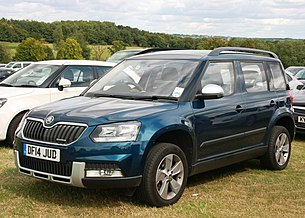 Škoda Yeti diesel Greenline registered July 2014 (ie post 2013 facelift) 1598cc.JPG