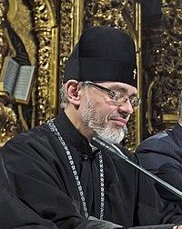 Архиепископ Даниил (Зелинский) в президиуме объединительного собора в Киеве. 15 декабря 2018.jpg