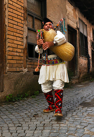 Macedonian culture (Slavic) - Macedonian gajda player