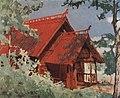 Красный домик. Мастерская Рылова на берегу Волги. 1910.jpg