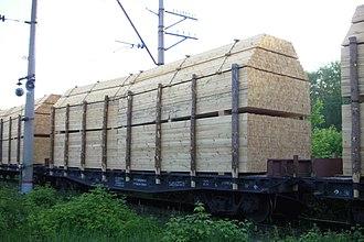 Перевозка пиломатериалов железнодорожным транспортом на платформах