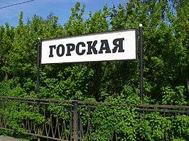 Gorskaya railway station