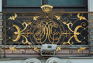 Stroganov Palace - The initials of the first owner.