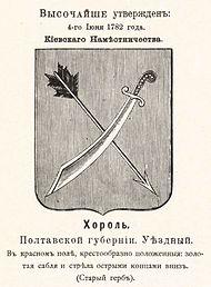 Герб города с оф. описанием 1782 года
