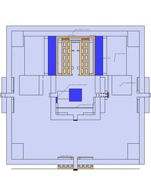 Third temple floor sketch based on rabbi meir leibush ben yehiel