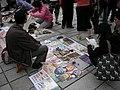 天母市集,天母地下停車場,擺地攤的人 - panoramio.jpg