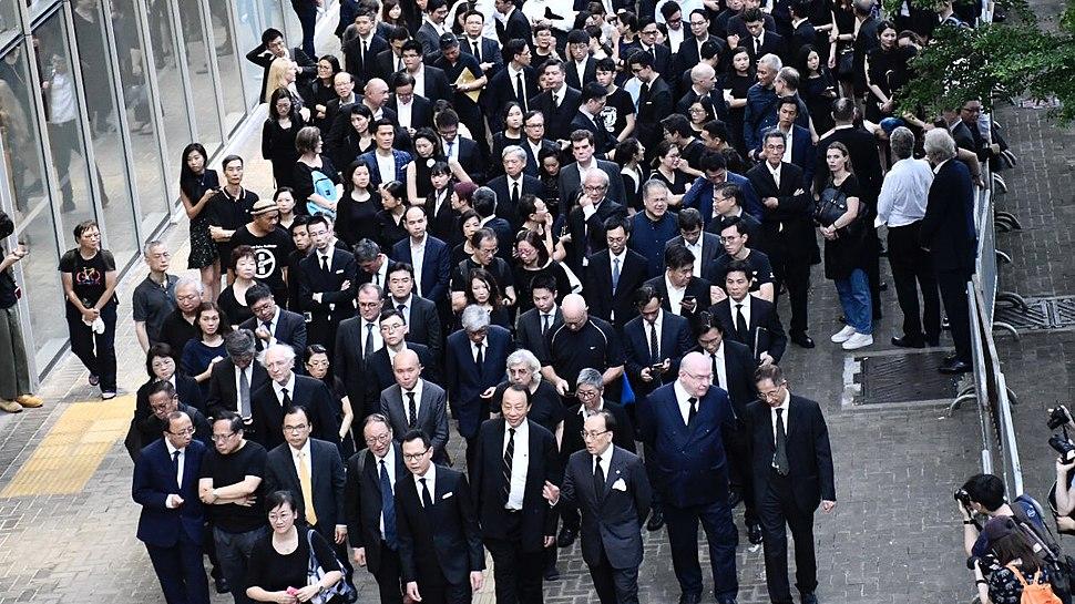 香港法律界3千人黑衣遊行2