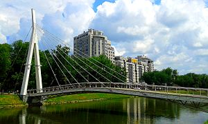 (30) VIEW ON PEDESTRIAN BRIDGE OVER KHARKIV RIVER IN CITY OF KHARKIV STATE OF UKRAINE PHOTOGRAPH BY VIKTOR O LEDENYOV 20160616