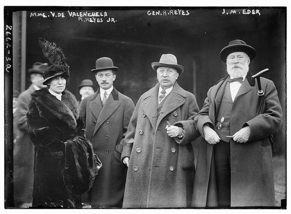 . V. de Valenzuela, R. Reyes Jr., Gen. R. Reyes, and J. M. Eder