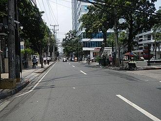 Del Pilar Street - Del Pilar Street immediately south of Plaza Nuestra Señora de Guía near Ermita Church