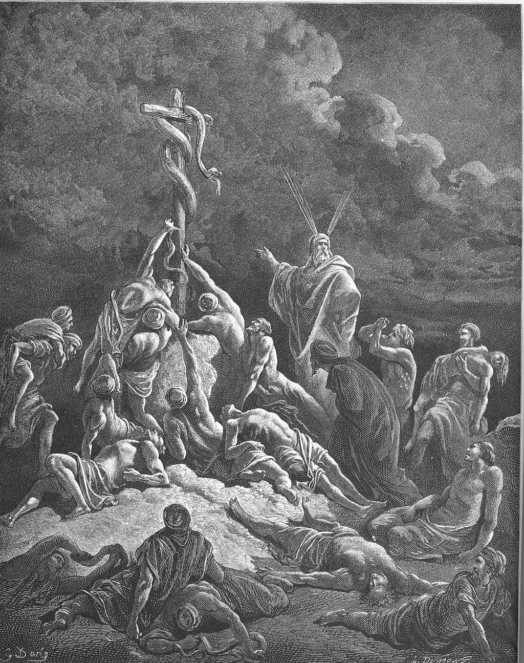 놋뱀 (귀스타브 도레, Gustave Doré, 1866년)