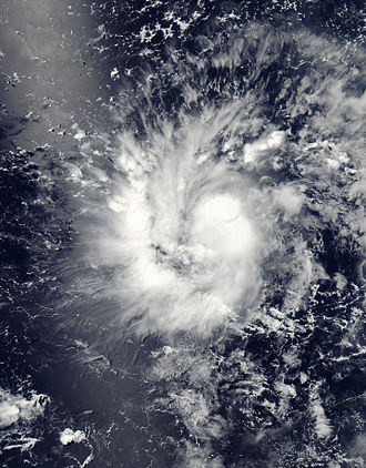 Typhoon Rammasun - Tropical Depression 09W near Guam on July 11