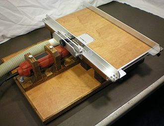 Table saw - A 1-inch (25 mm) micro table saw.