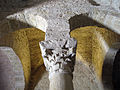 108 Sant Miquel de Terrassa, un dels capitells que sostenen la cúpula.JPG