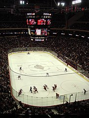 Xcel Energy Center during a Wild game