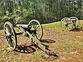 12 pounder Confederate cannons, Cheatham's Hill, Battle of Kennesaw Mountain.jpg