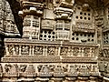 13th century Keshava Hindu temple relief with various musical instruments being played, Somanathpur India.jpg