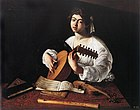 1596 Caravaggio, The Lute Player New York