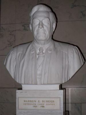 English: Warren E. Burger bust, US Supreme Cou...